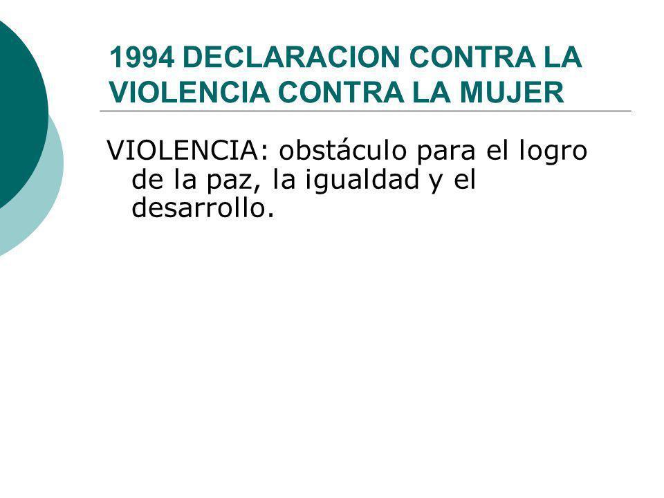1994 DECLARACION CONTRA LA VIOLENCIA CONTRA LA MUJER