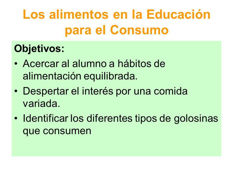 Los alimentos en la Educación para el Consumo