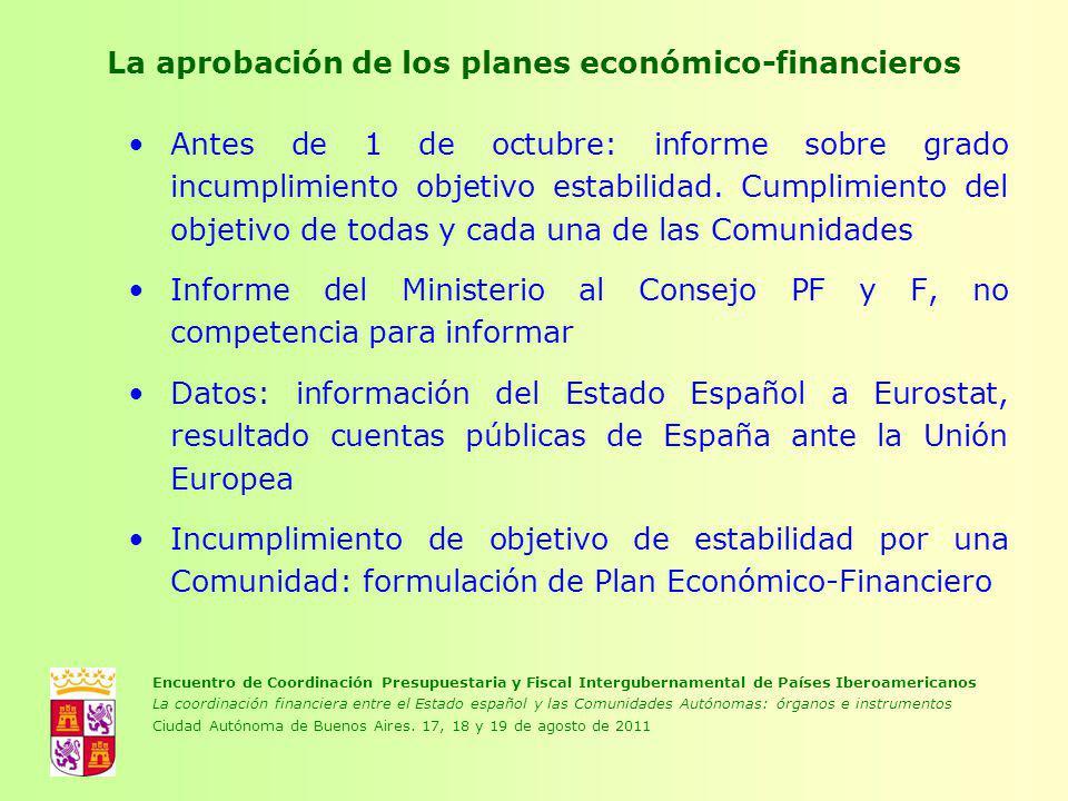 La aprobación de los planes económico-financieros