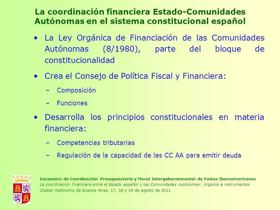 Crea el Consejo de Política Fiscal y Financiera: