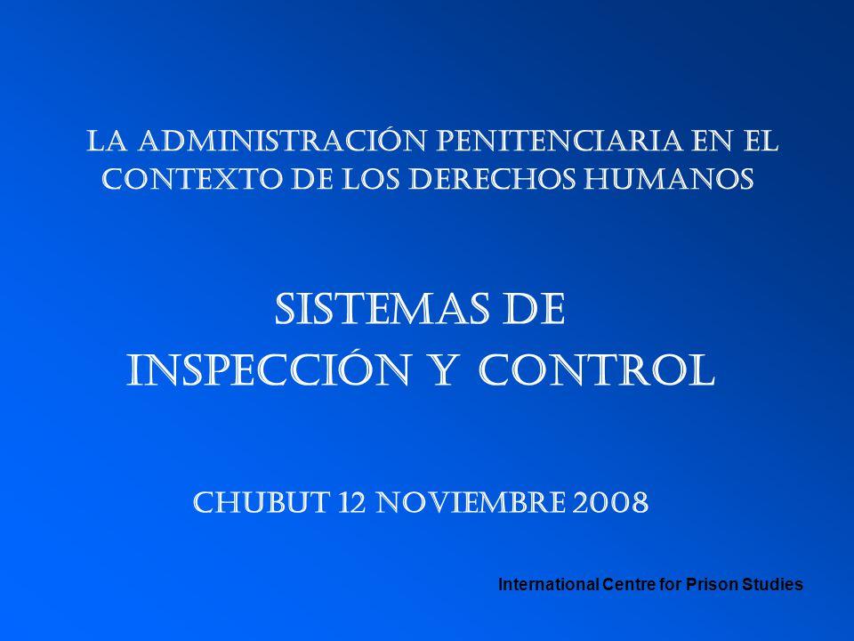 La administración penitenciaria en el contexto de los derechos humanos