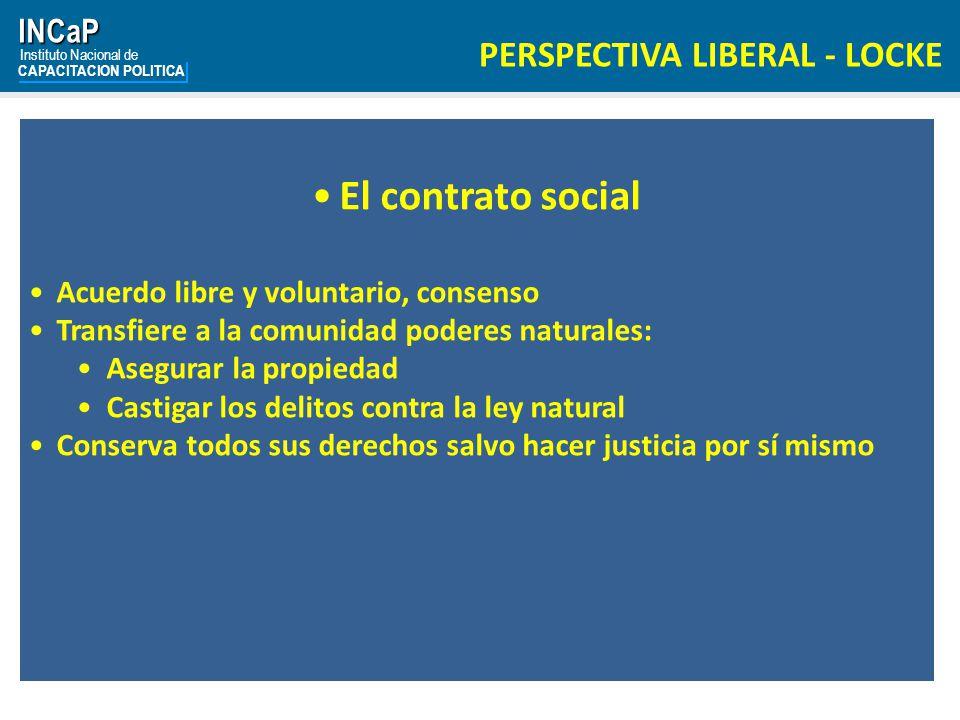 El contrato social PERSPECTIVA LIBERAL - LOCKE INCaP