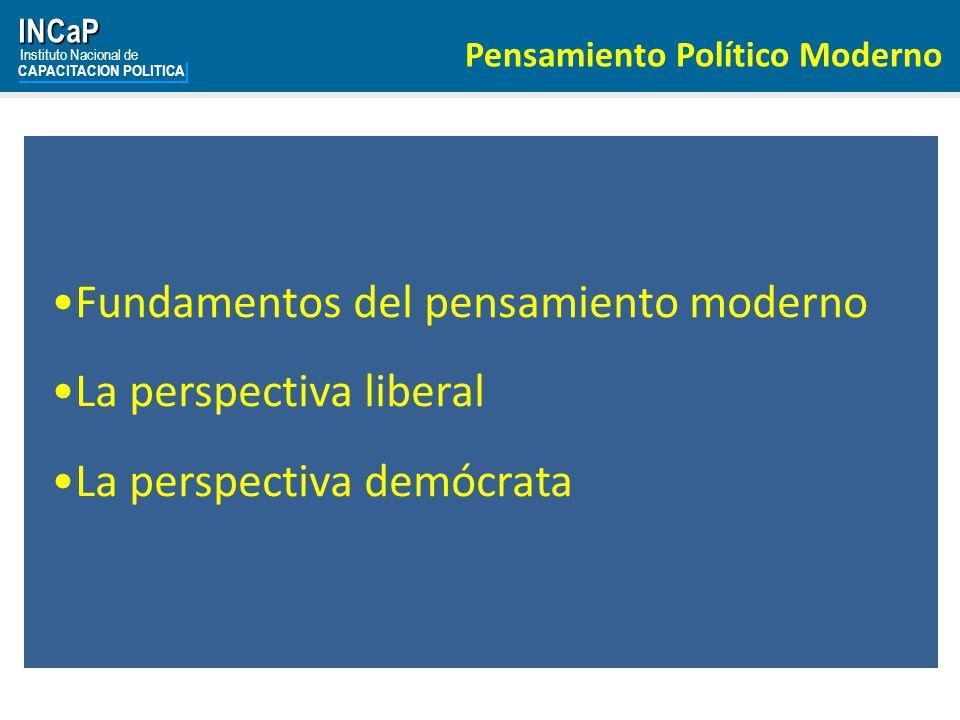 Fundamentos del pensamiento moderno La perspectiva liberal