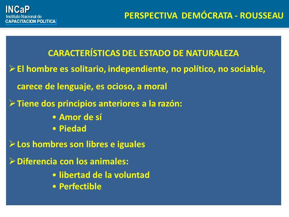 CARACTERÍSTICAS DEL ESTADO DE NATURALEZA