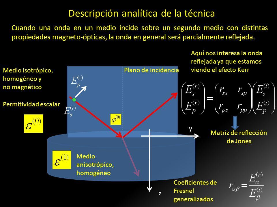 Descripción analítica de la técnica