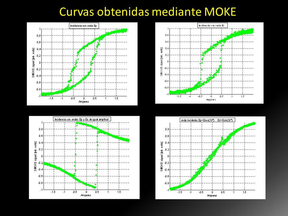 Curvas obtenidas mediante MOKE