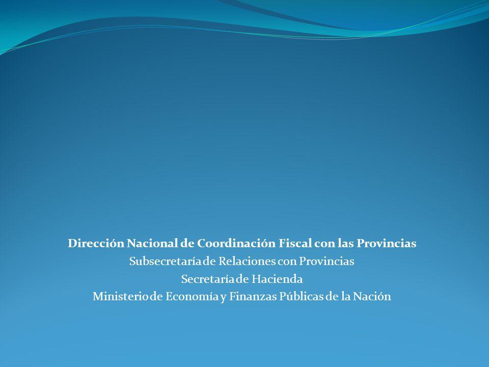 Dirección Nacional de Coordinación Fiscal con las Provincias