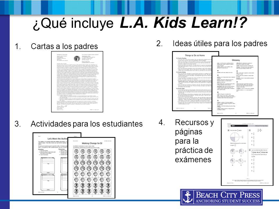 ¿Qué incluye L.A. Kids Learn!