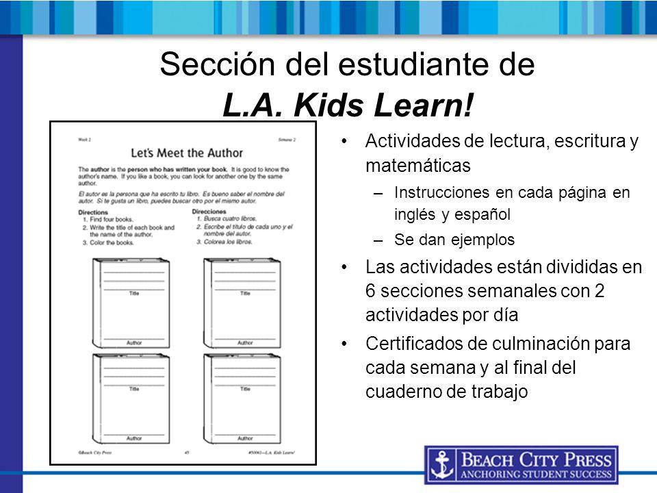 Sección del estudiante de L.A. Kids Learn!