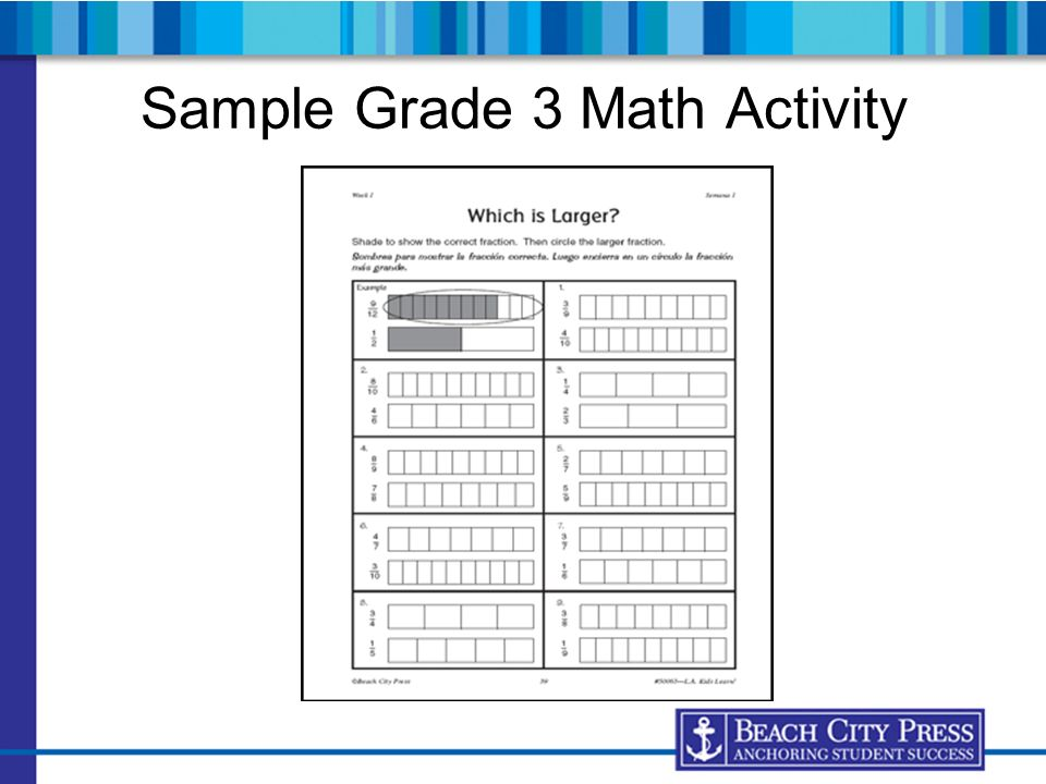 Sample Grade 3 Math Activity