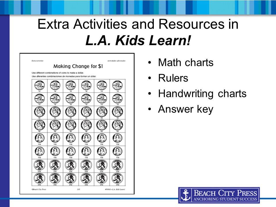 Extra Activities and Resources in L.A. Kids Learn!
