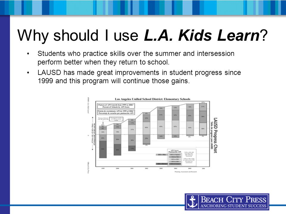 Why should I use L.A. Kids Learn