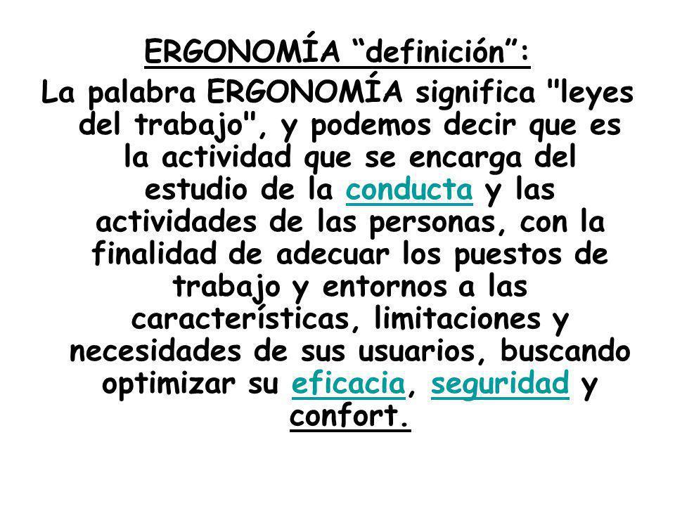 ERGONOMÍA definición :