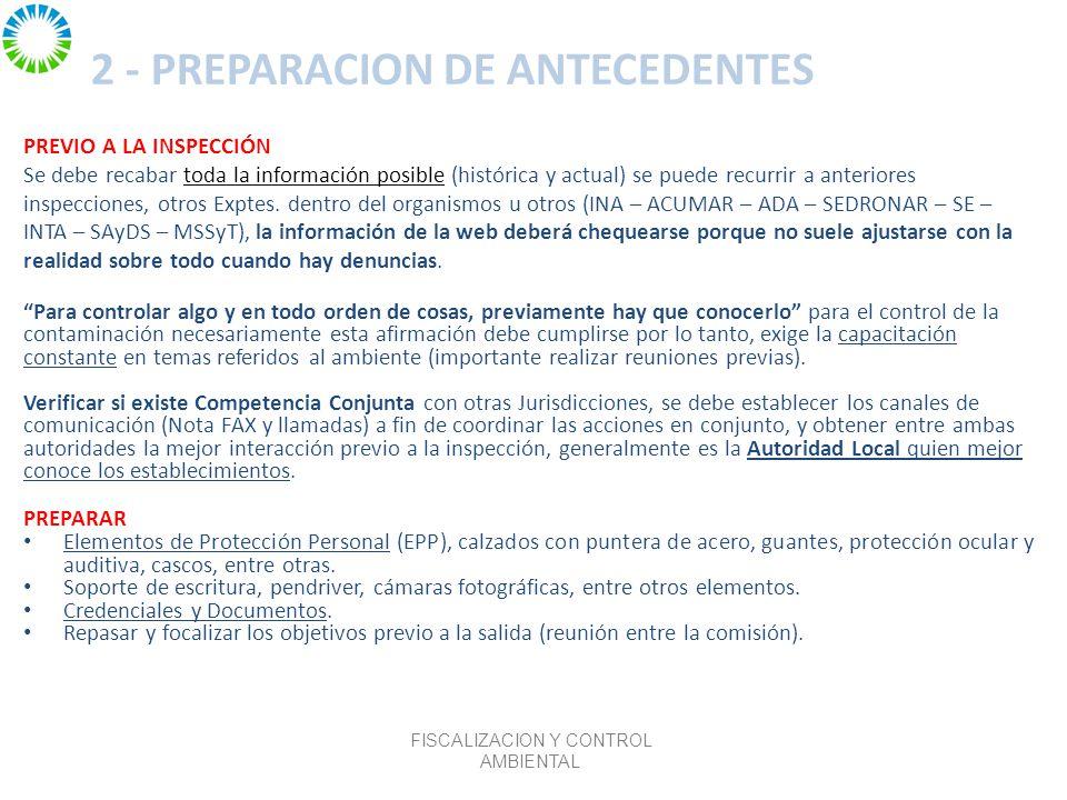 2 - PREPARACION DE ANTECEDENTES