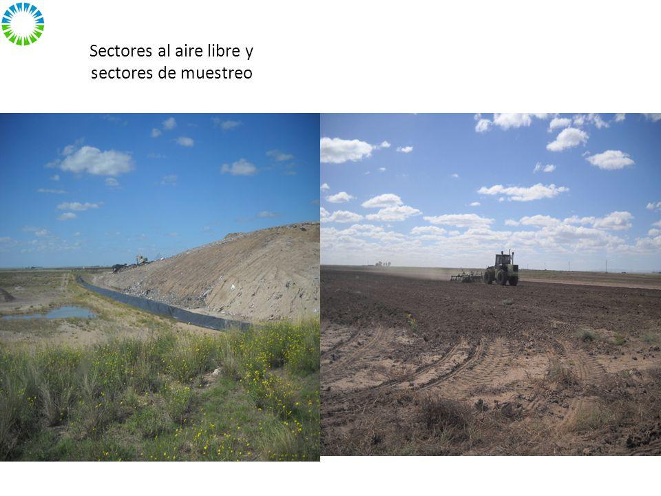 Sectores al aire libre y sectores de muestreo
