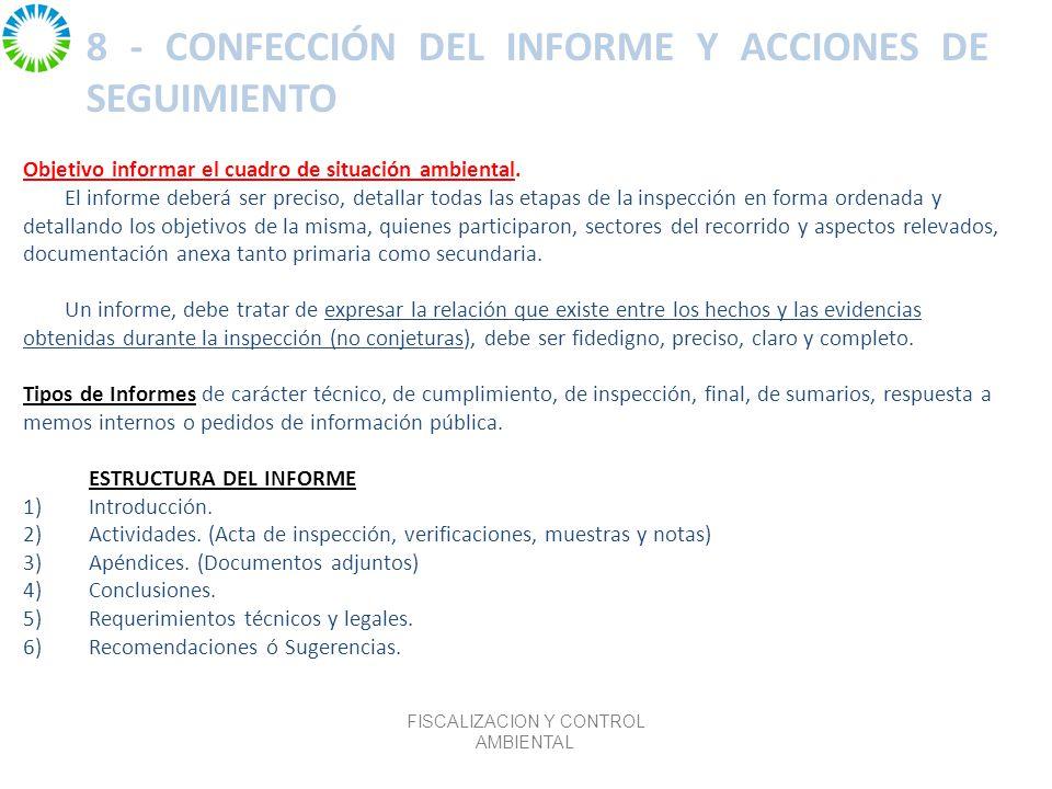 8 - CONFECCIÓN DEL INFORME Y ACCIONES DE SEGUIMIENTO