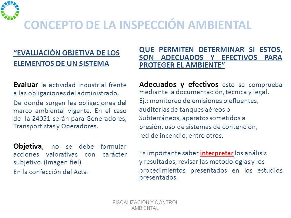 CONCEPTO DE LA INSPECCIÓN AMBIENTAL