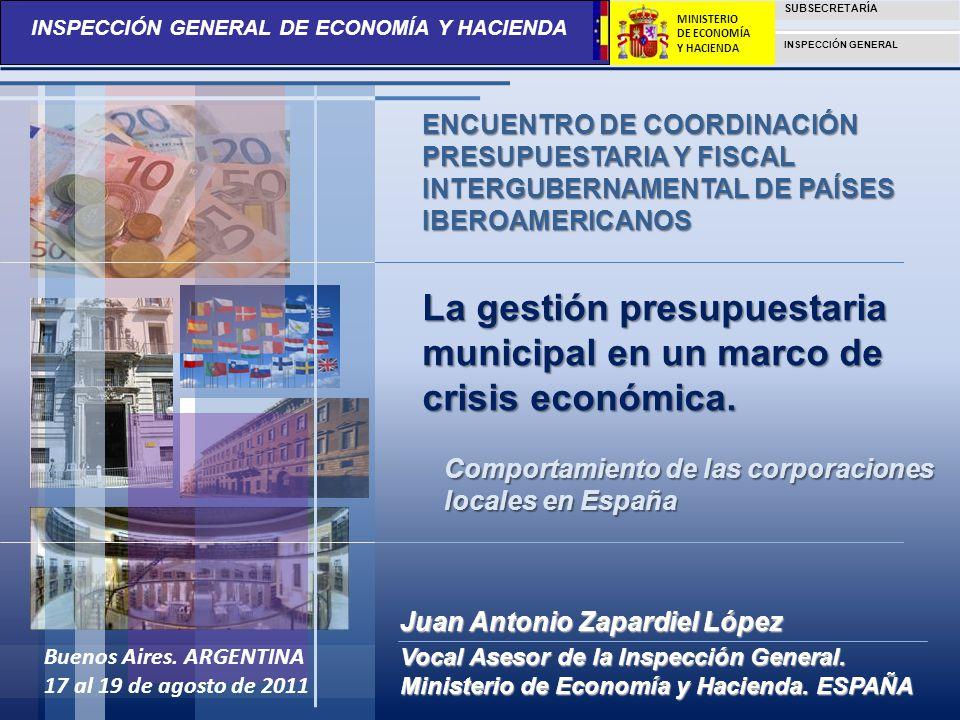 La gestión presupuestaria municipal en un marco de crisis económica.