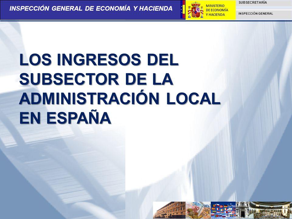 LOS INGRESOS DEL SUBSECTOR DE LA ADMINISTRACIÓN LOCAL EN ESPAÑA