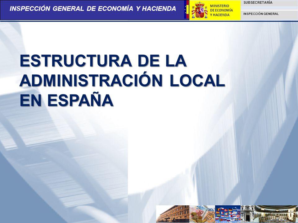 ESTRUCTURA DE LA ADMINISTRACIÓN LOCAL EN ESPAÑA