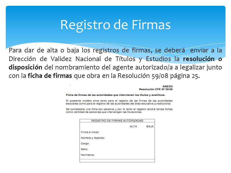 Registro de Firmas