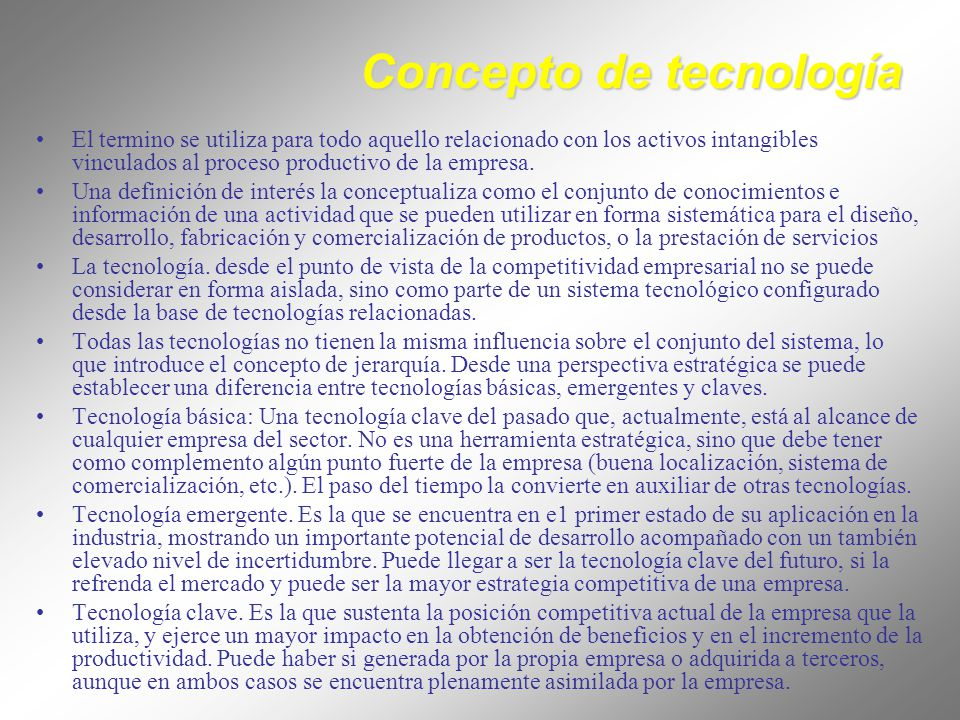 Concepto de tecnología