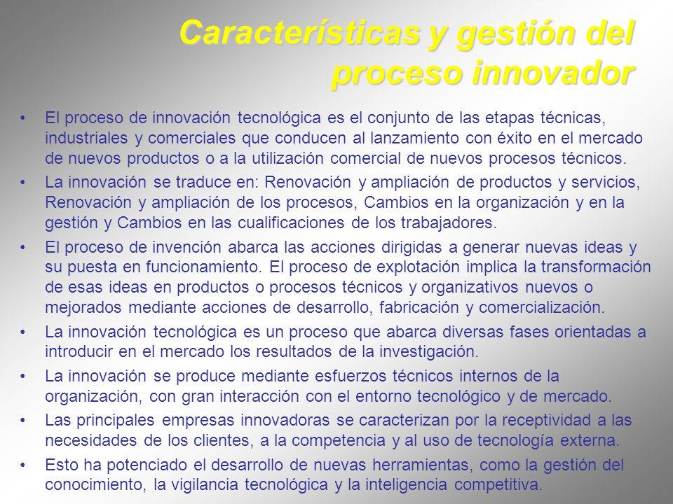 Características y gestión del proceso innovador