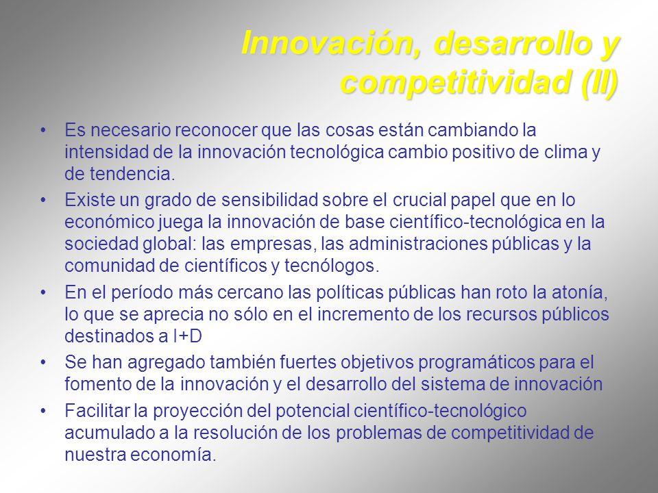 Innovación, desarrollo y competitividad (II)
