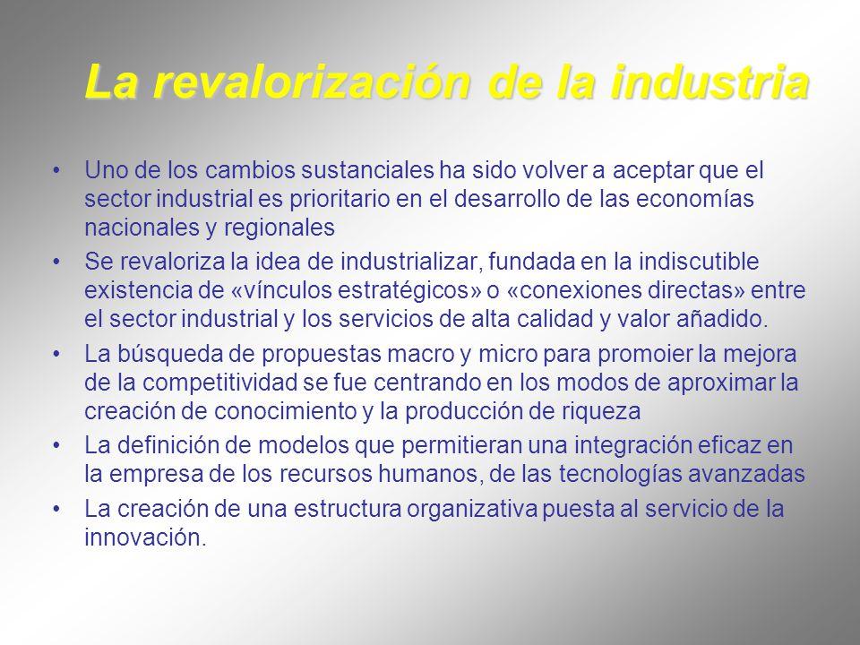 La revalorización de la industria