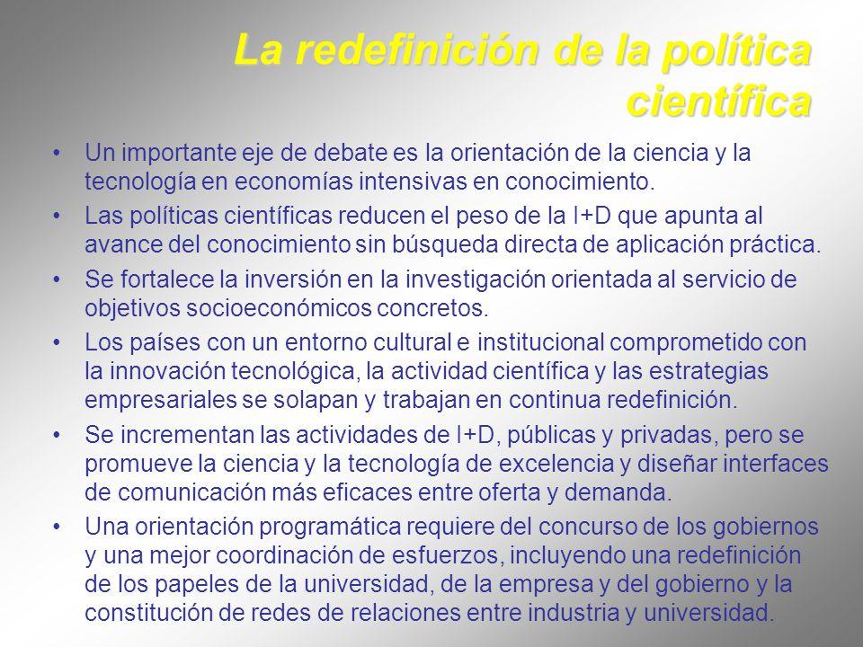 La redefinición de la política científica