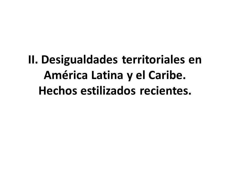 II. Desigualdades territoriales en América Latina y el Caribe