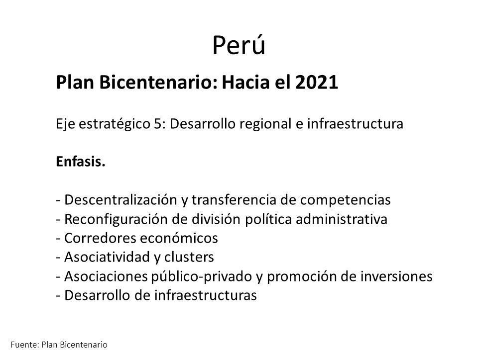 Perú Plan Bicentenario: Hacia el 2021