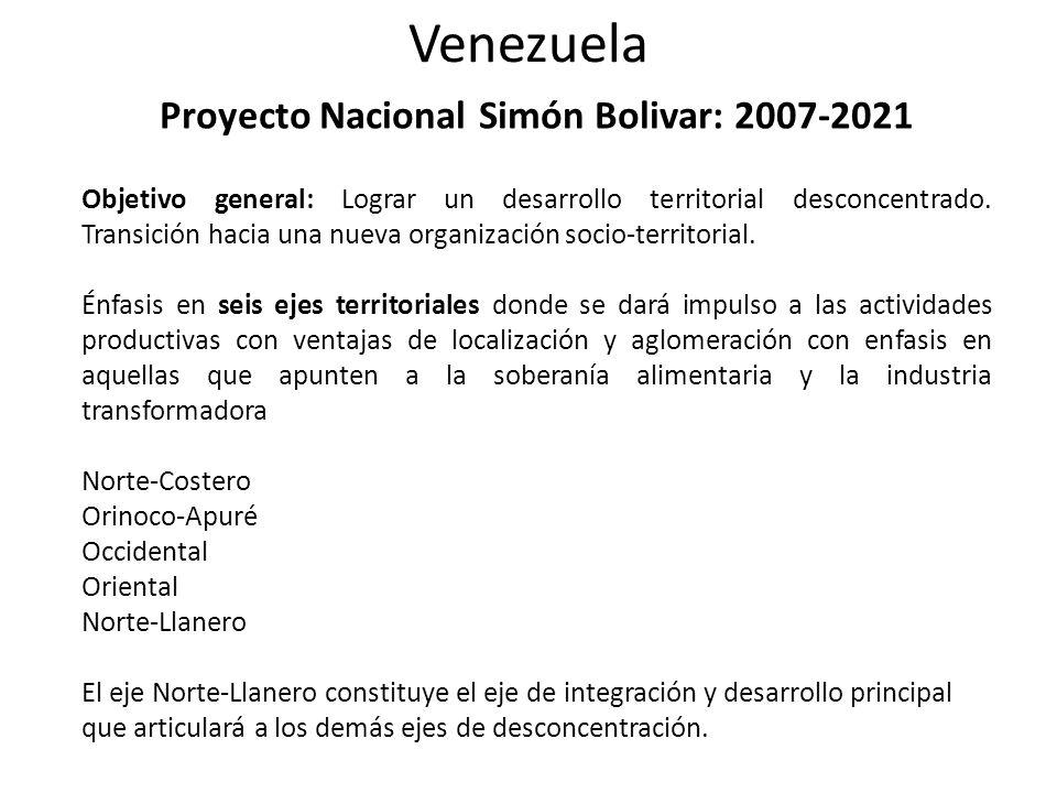 Proyecto Nacional Simón Bolivar: 2007-2021