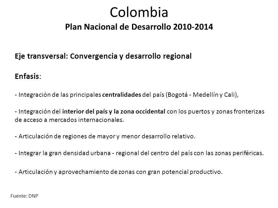 Colombia Plan Nacional de Desarrollo 2010-2014