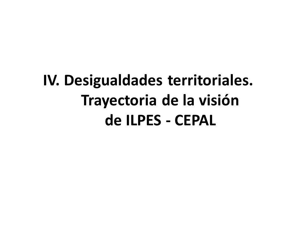 IV. Desigualdades territoriales