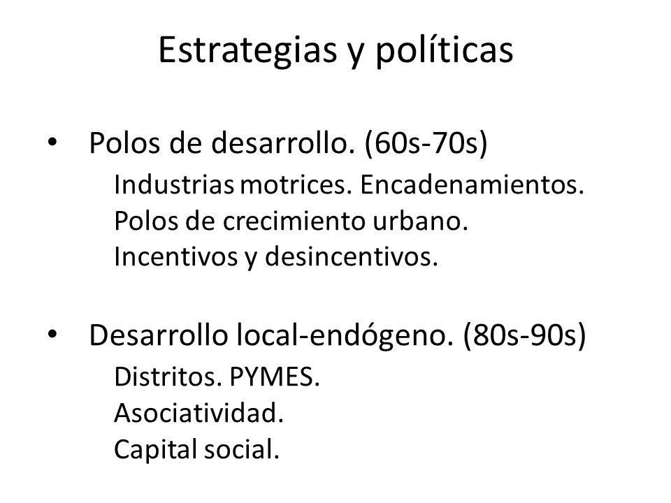Estrategias y políticas
