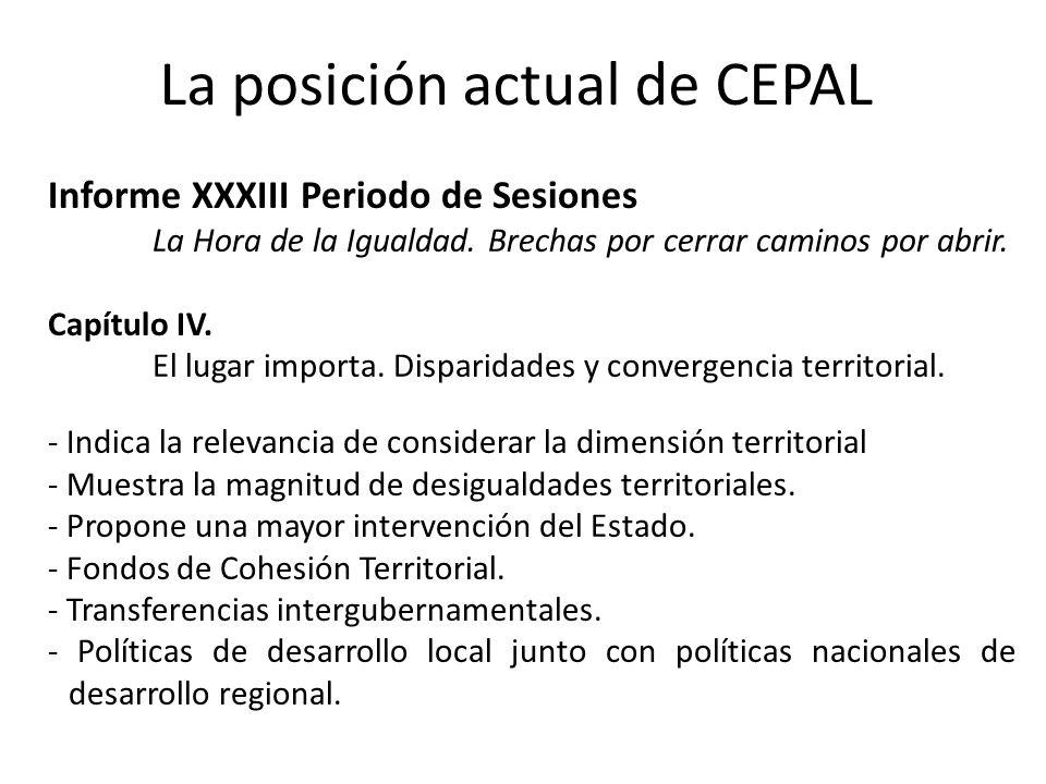 La posición actual de CEPAL