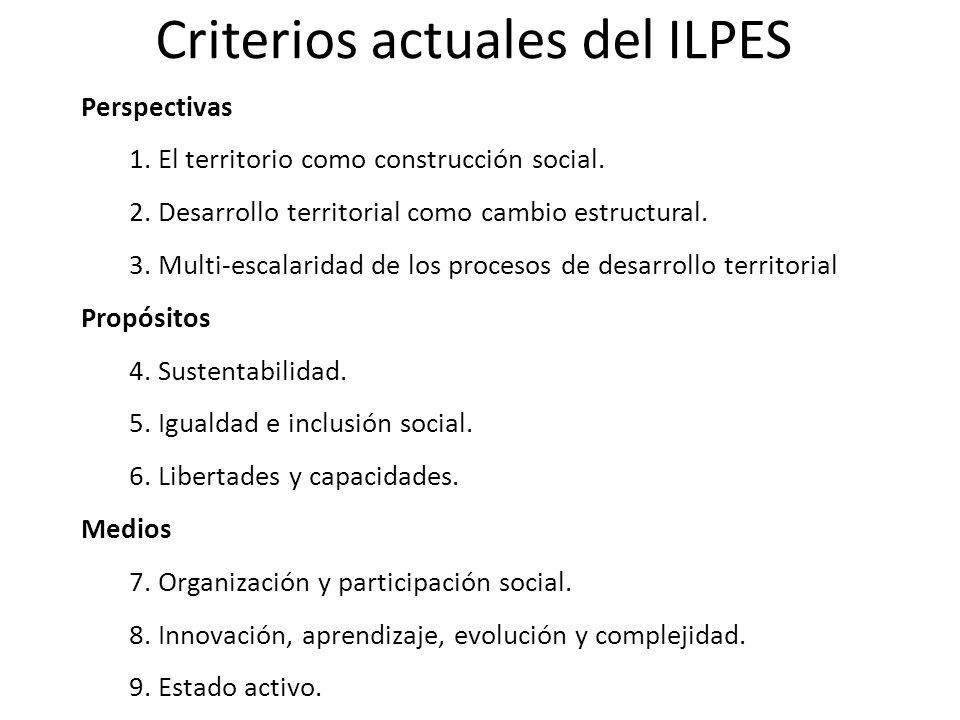 Criterios actuales del ILPES