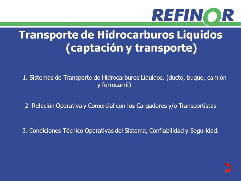 Transporte de Hidrocarburos Líquidos (captación y transporte)