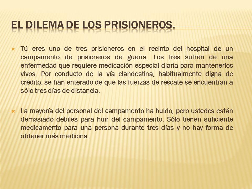 EL DILEMA DE LOS PRISIONEROS.