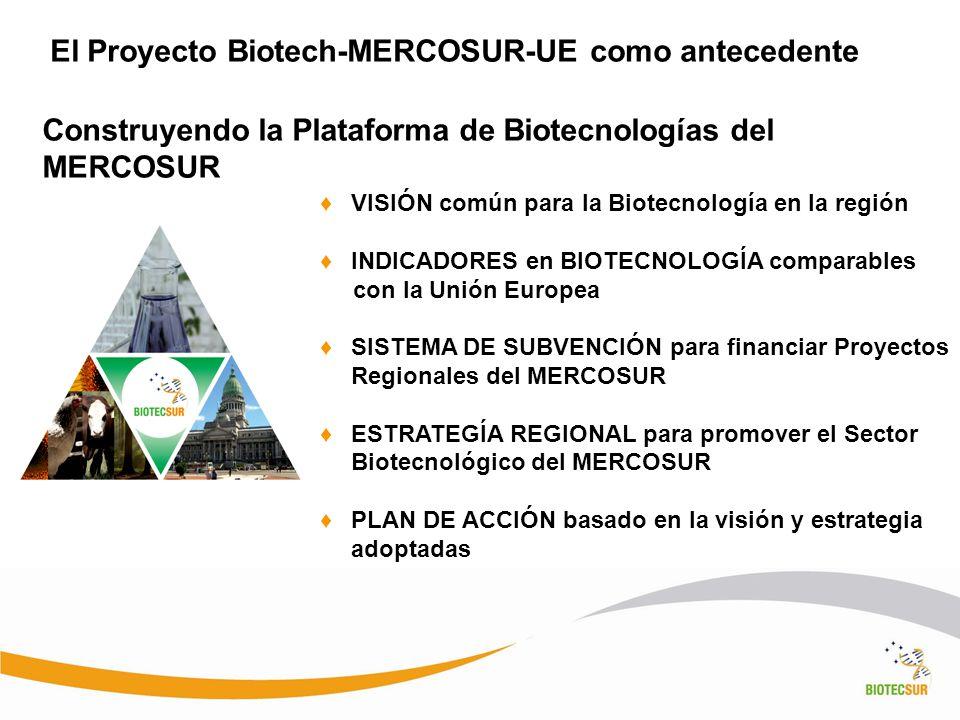 El Proyecto Biotech-MERCOSUR-UE como antecedente