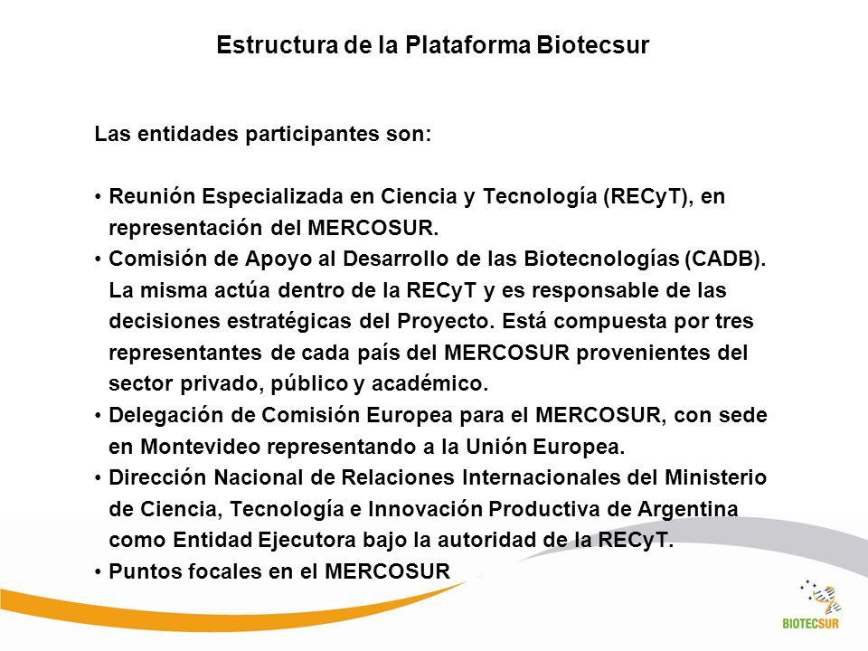 Estructura de la Plataforma Biotecsur