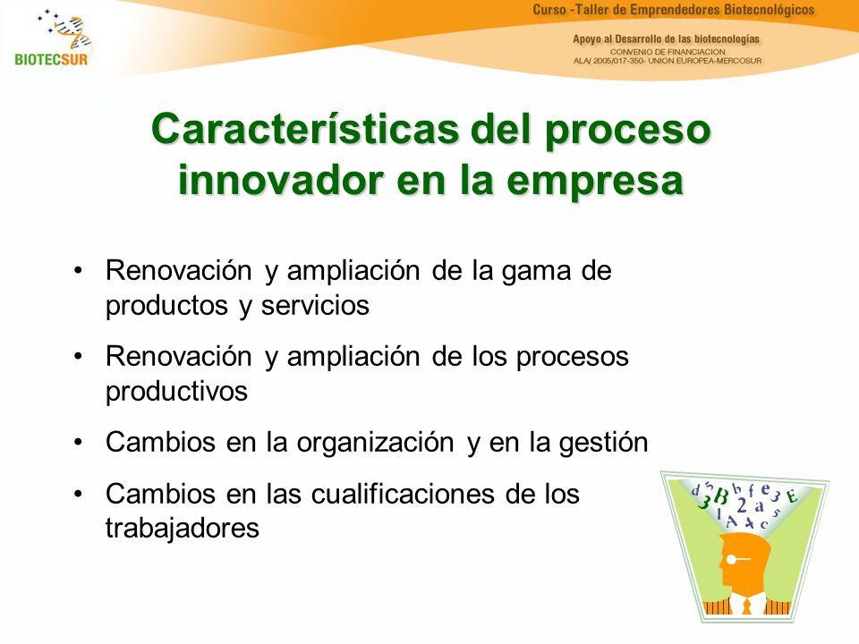 Características del proceso innovador en la empresa