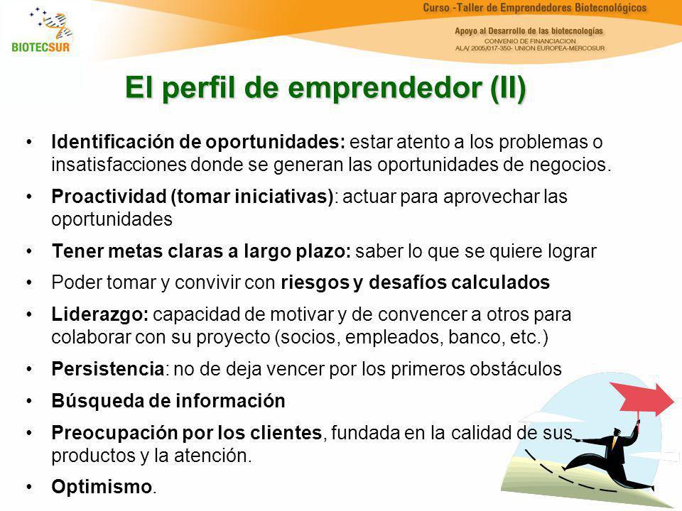 El perfil de emprendedor (II)