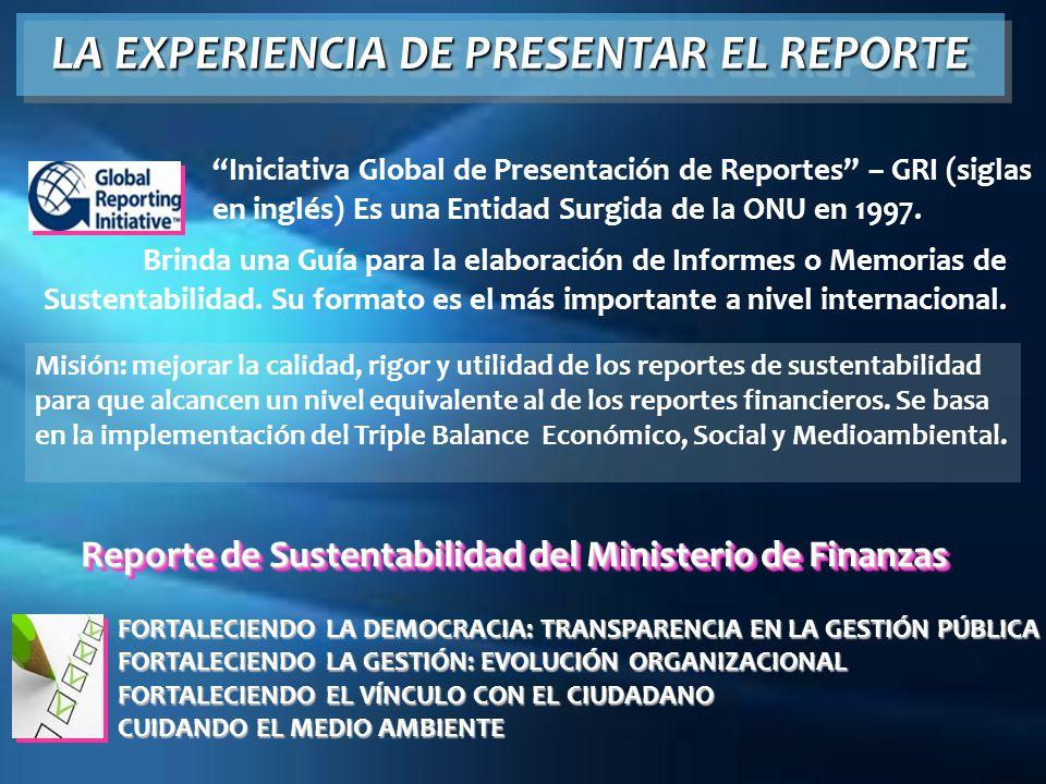 LA EXPERIENCIA DE PRESENTAR EL REPORTE