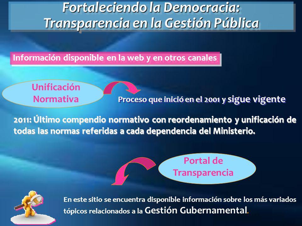 Fortaleciendo la Democracia: Transparencia en la Gestión Pública