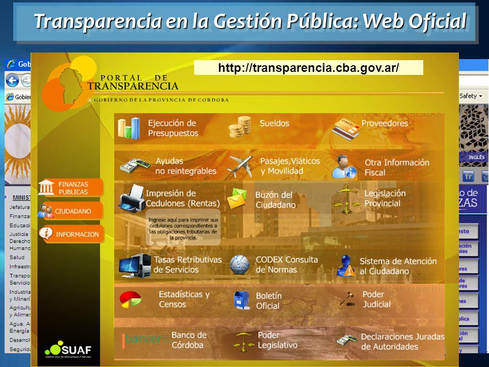 Transparencia en la Gestión Pública: Web Oficial