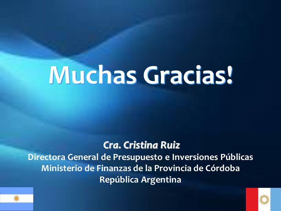 Muchas Gracias! Cra. Cristina Ruiz