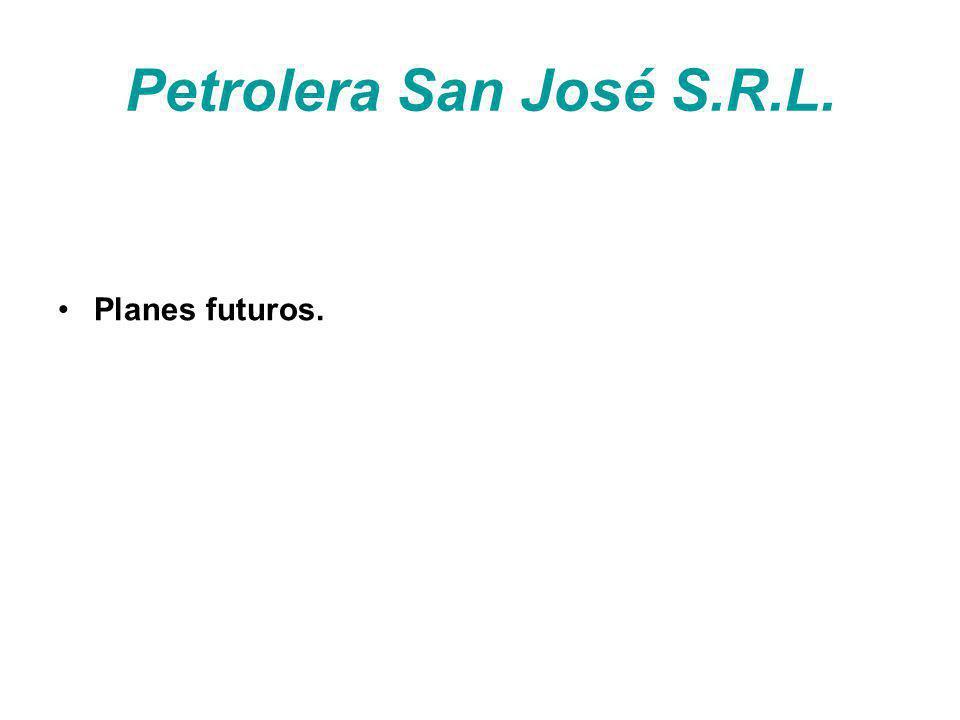 Petrolera San José S.R.L. Planes futuros.