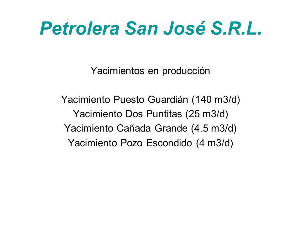 Petrolera San José S.R.L. Yacimientos en producción